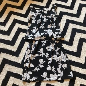 Vintage dress barn floral skirt set sleeveless